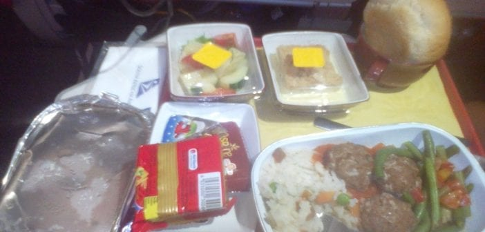 nourriture dans l'avion