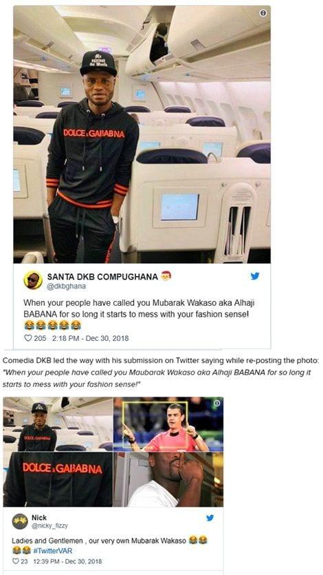 Le footballeur ghanéen Mubarak Wakaso moqué pour son ''faux Dolce & Gabbana'': PHOTO