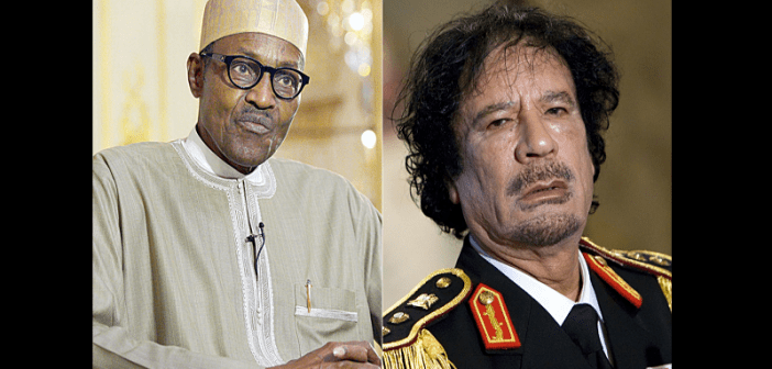 Buhari-Gaddafi