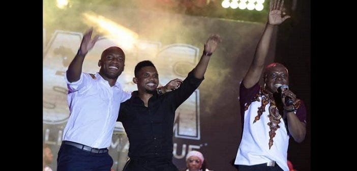 Drogba et Eto'o font le show au concert de Magic System-Photos