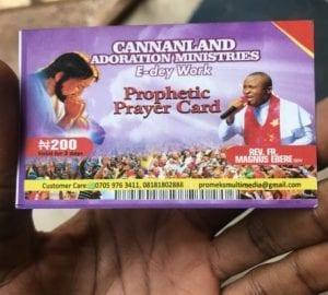 Nigeria: Des cartes de souscription pour la prière prophétique désormais en vente (photos)