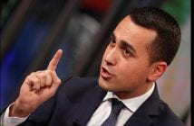"5-Star Movement leader Luigi Di Maio is seen during the television talk show ""Porta a porta"" (Door to door) in Rome"