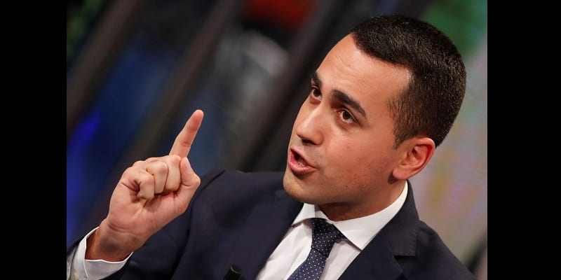 "5-Star Movement leader Luigi Di Maio is seen during the television talk show ""Porta a porta"" (Door to door) in Rome"