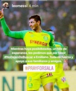 Disparition d'Emiliano Sala: Lionel Messi lance un appel émouvant
