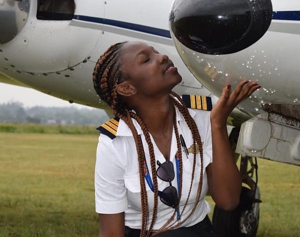 At 21, Esi Swatson is the youngest female pilot in Ghana
