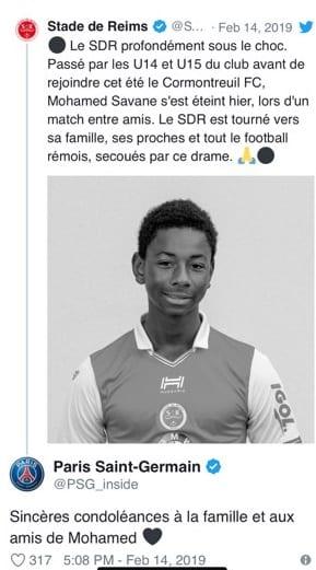 France: un jeune footballeur de 15 ans décède d'une crise cardiaque