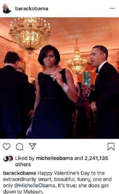 Saint-Valentin: les messages d'amour de Barack Obama et son épouse Michelle