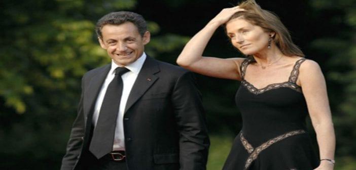 Sarkozy et épouse