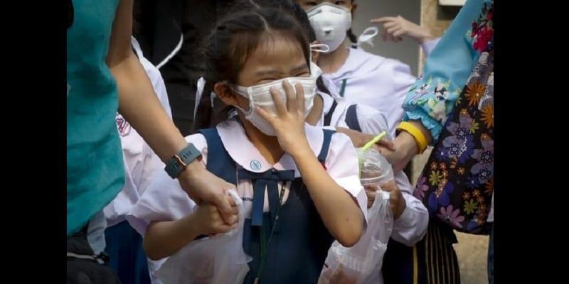 Un smog toxique provoque des larmes de sang et des saignements de nez (photos)