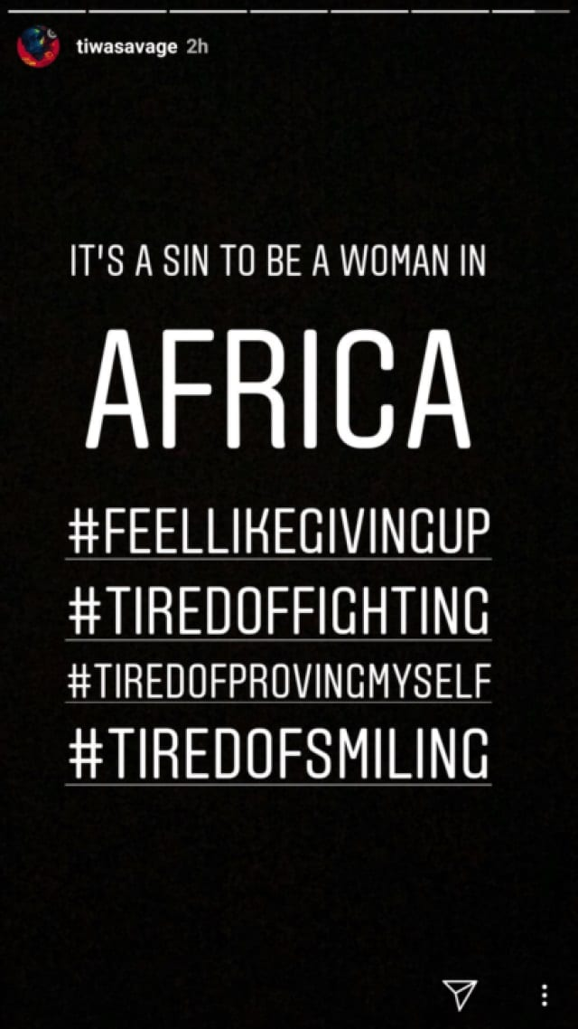 Tiwa Savage: son message aux femmes qui minimisent ses réalisations
