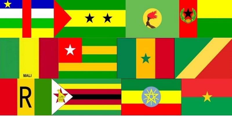 Drapeaux pays noirs