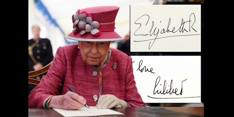 Angleterre : Voici pourquoi la reine Elizabeth II utilise deux signatures différentes (photos)