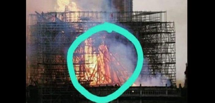 Incendie à Notre-Dame : Des personnes disent avoir vu une image mystérieuse dans les flammes