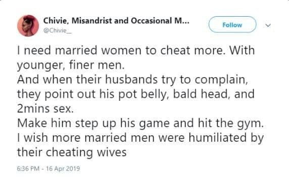 Une féministe nigériane demande aux femmes mariées de tromper leurs maris