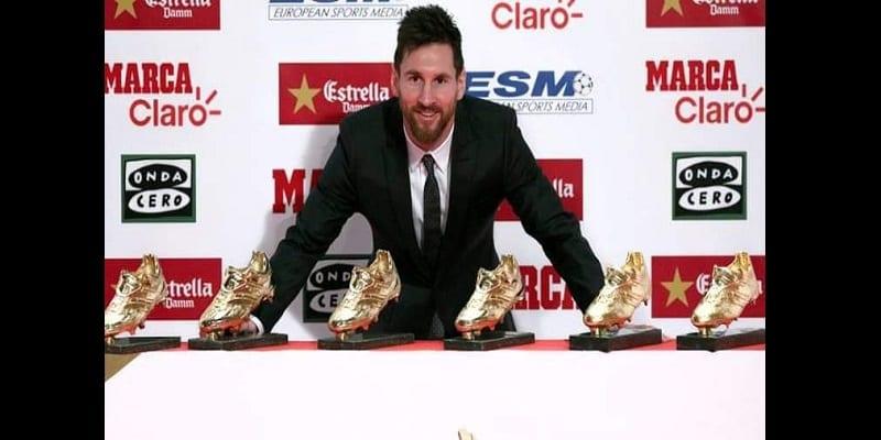 bcd68fe67f948 Lionel Messi remporte son sixième Soulier d'Or...Voici le Top 5-(vidéo)