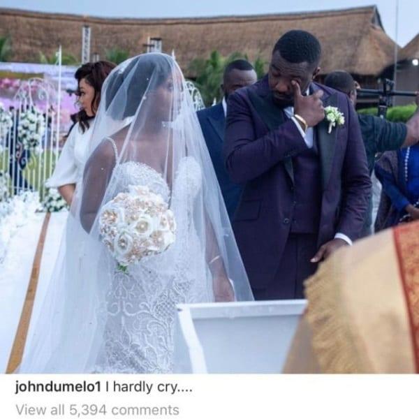 John Dumelo accusé d'avoir simulé des larmes lors de son mariage religieux