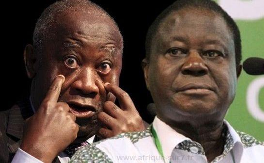 Laurent Gbagbo et Konan Bédié