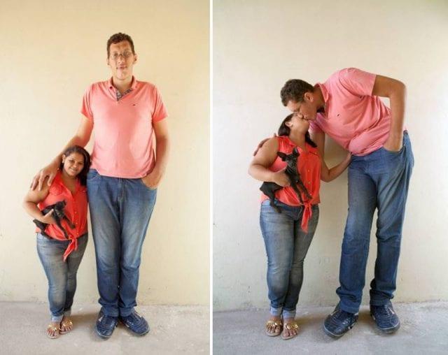Brésil : L'homme le plus grand du pays partage son incroyable histoire d'amour (photos)
