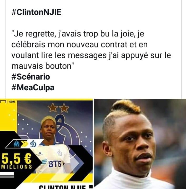 Le footballeur Clinton Njie publie accidentellement une vidéo de ses ébats sexuels