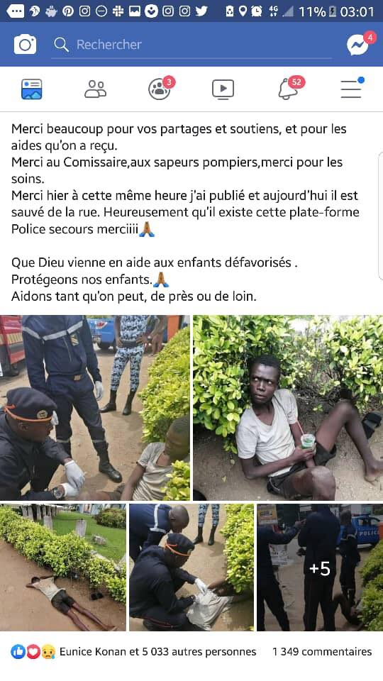 Côte d'Ivoire: Voici comment les réseaux sociaux ont sauvé la vie d'un jeune garçon abandonné