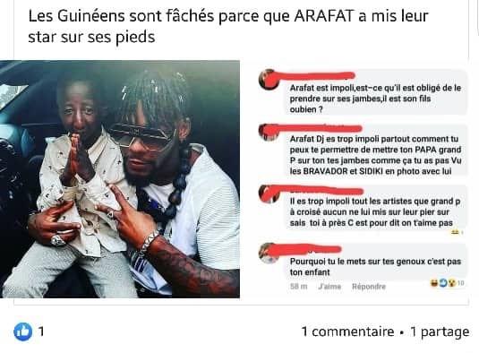 Les fans de l'artiste guinéen 'Grand P' très remontés contre Arafat Dj