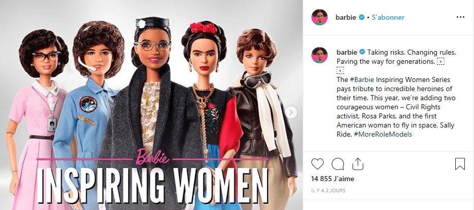 Barbie dévoile une poupée à l'effigie de l'Afro-américaine Rosa Parks