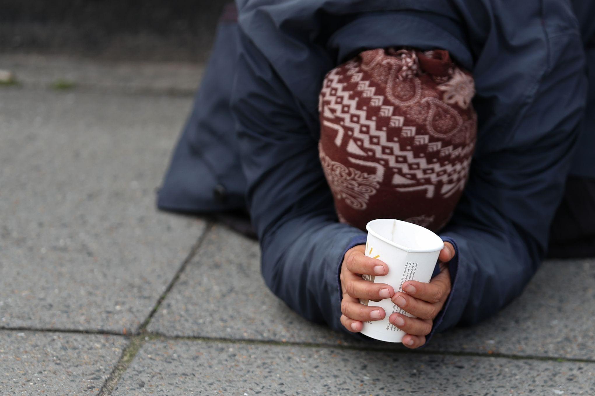 BRITAIN-HOMELESSNESS-BEGGING