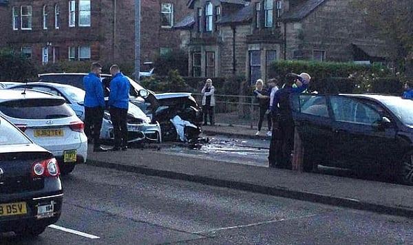 Le footballeur Jermain Defoe impliqué dans un accident de voiture en Ecosse