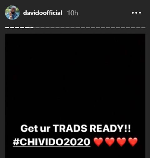 Davido et Chioma vont bientôt se marier...Le chanteur fait une révélation