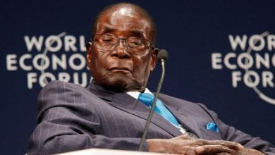 Zimbabwean President Mugabe participates in a discussion at the World Economic Forum on Africa 2017 meeting in Durban