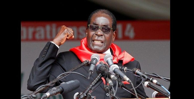 FILE PHOTO: Zimbabwe President Robert Mugabe addresses supporters during celebrations to mark his 90th birthday in Marondera