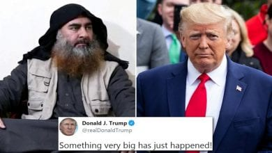 •Late Islamic State leader, Abu Bakr al-Baghdadi and President Donald Trump