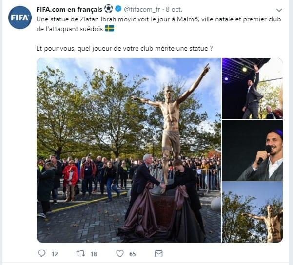 Suède : Après Cristiano, Zlatan Ibrahimovic a désormais une statue à son effigie dans sa ville natale