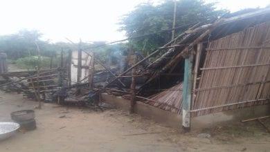 maisons détruites par la pluie