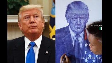 President-Donald-Trump-hail-Nigerian-guy-who-drew-a-portrait-of-him