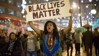 Ferguson shooting protest – London