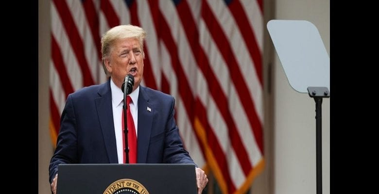U.S. President Trump holds news conference on China at the White House in Washington