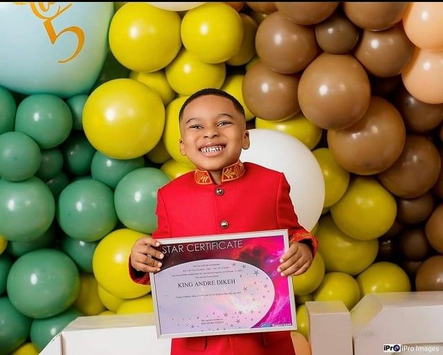 Tonto Dikeh offre une vraie étoile dans le ciel à son fils pour son 5e anniversaire: PHOTOS