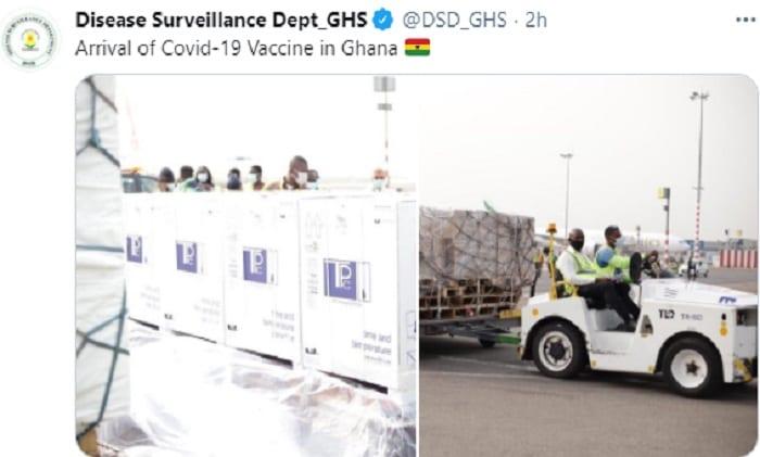 Coronavirus/ Le Ghana reçoit le premier lot de vaccins COVID-19