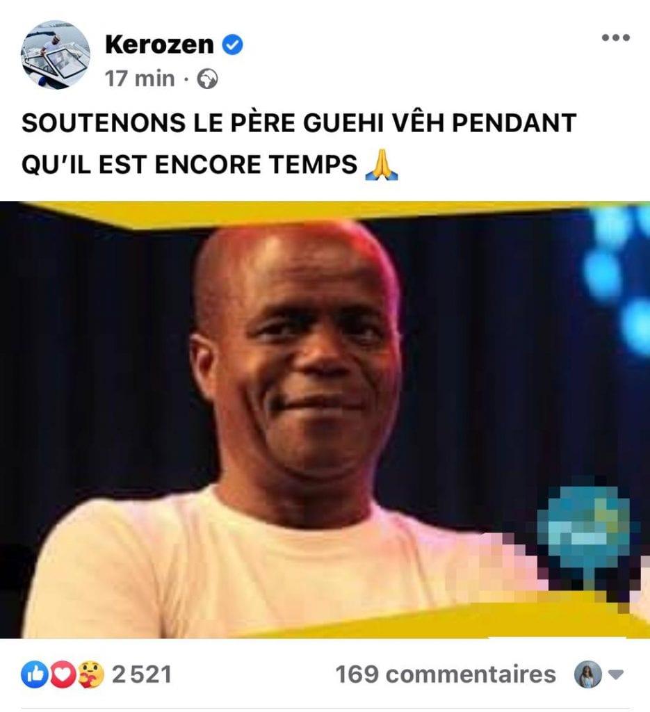 Comédie: scandalisé, Dj Kerozen appelle à l'aide pour Guehi Vêh