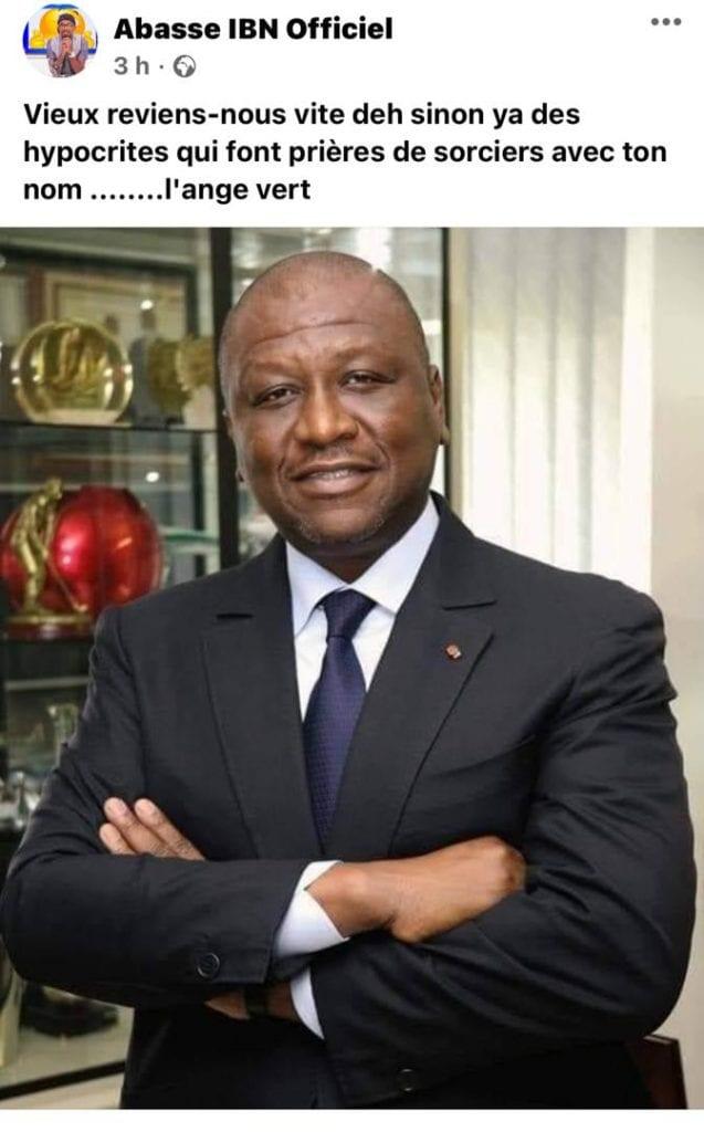Hamed Bakayoko malade: l'humoriste Abass envoie un  message au Premier Ministre
