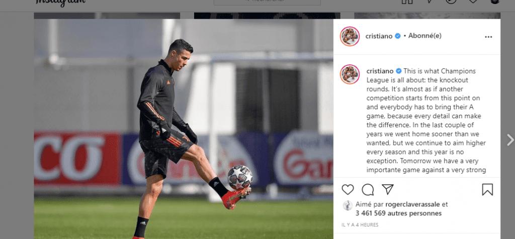 LDC / Porto-Juventus: Voici comment C.Ronaldo motive ses coéquipiers