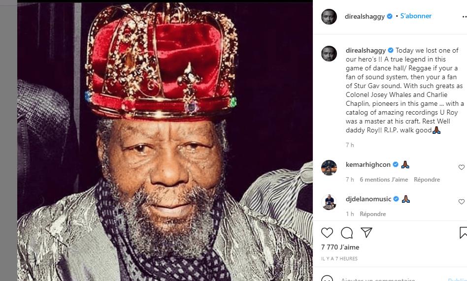 """Reggae: l'artiste jamaïcain U Roy, auteur du tube """"Go there natty dread"""" est mort à 78 ans"""