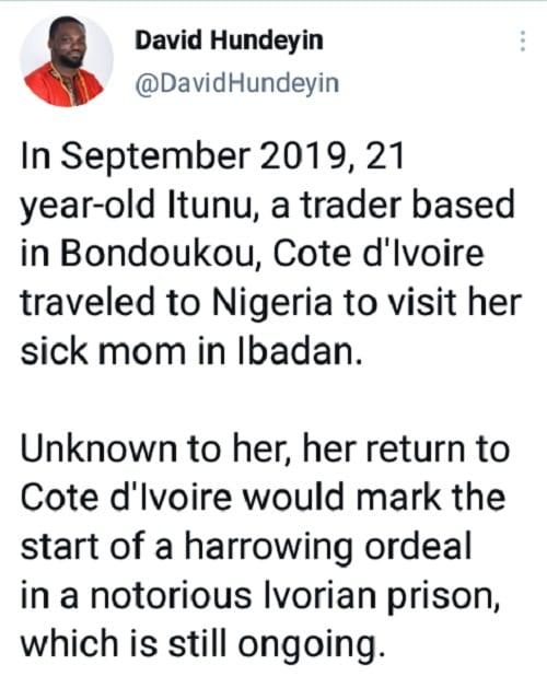 Côte d'Ivoire: un journaliste nigérian accuse la police de Bondoukou d'avoir emprisonné injustement une Nigériane
