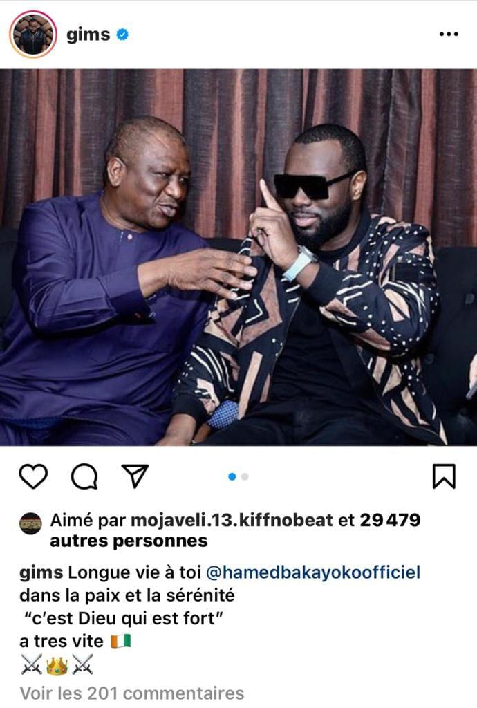 Hamed Bakayoko malade : Maitre Gims lance un message fort à la Côte d'Ivoire