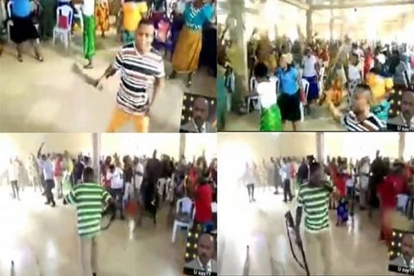 church-members-seen-praying-while-armed-with-different-weapons-to-attack-principalities-and-powers-video