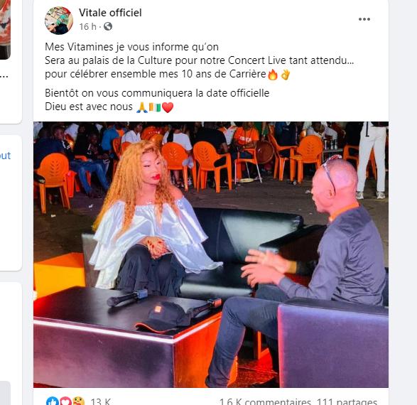 Côte d'Ivoire: critiquée sur son talent d'artiste, Vitale prépare quelque chose