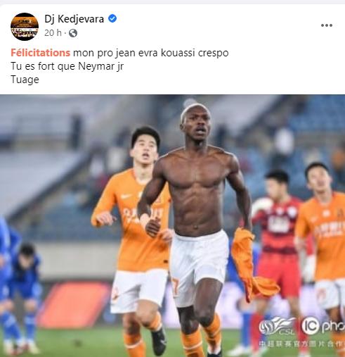 """Côte d'Ivoire/ Le rappeur Elown encense Jean Evrard: """"on a notre Leo Messi"""""""