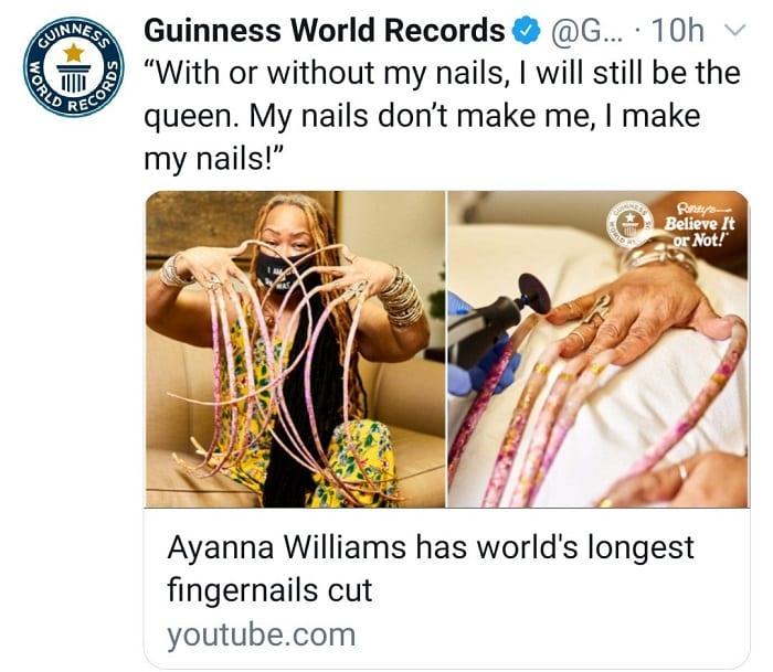 La femme aux ongles les plus longs, les coupe après près de 30 ans- Photos