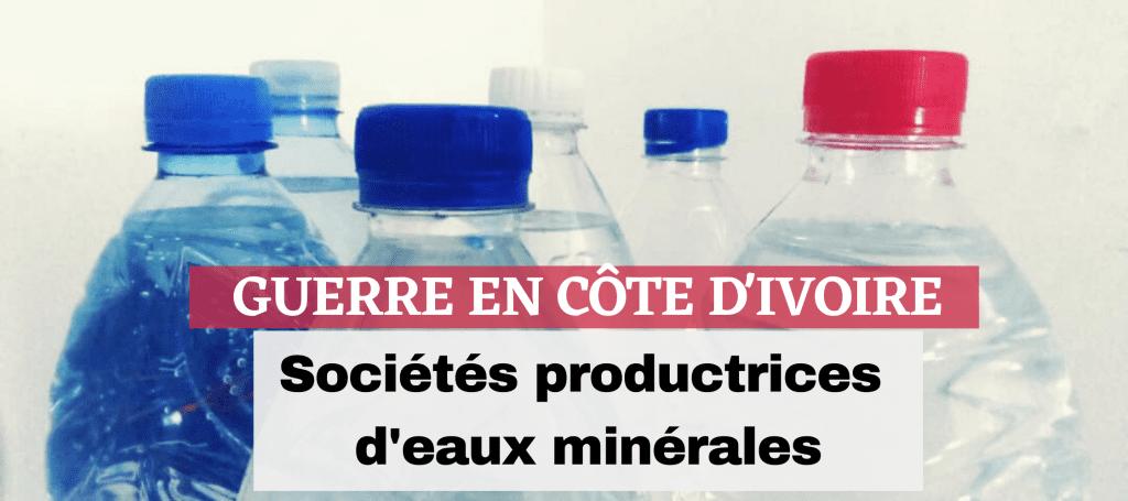 Côte d'Ivoire: Quand les sociétés productrices d'eaux minérales s'étripent